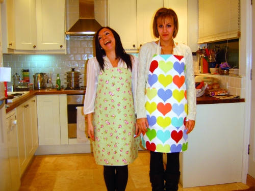 Charlie and Claudia aprons