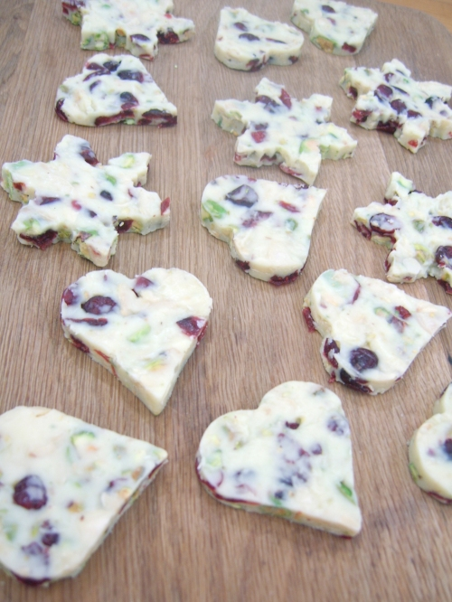 White chocolate snowflakes