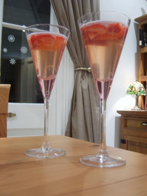 Strawberry & Prosecco jellies