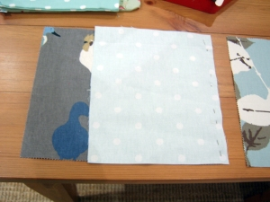Step 2: pin the fabric together