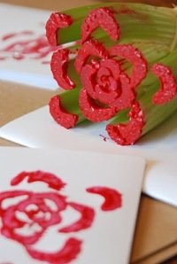 Celery-stamped Rose Cards