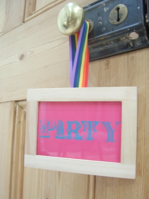 Easy Peasy Party Sign