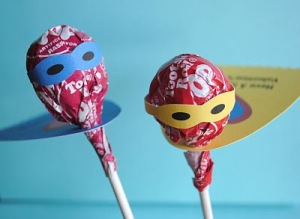 Superhero Lollies