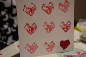 Cork-printed heart