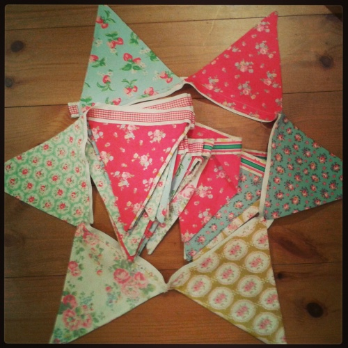 Mum's handmade bunting. Filter: Mayfair