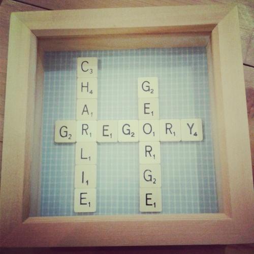 My friend Rachel's Scrabble picture. Filter: Amaro