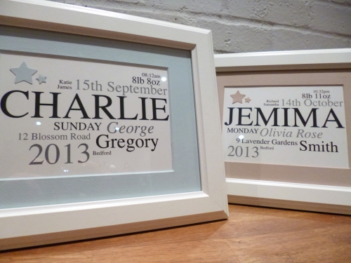 Baby Name Frames